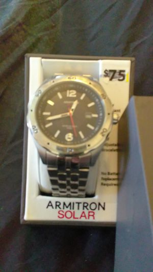 Armitron solar powered watch numbers glow in the dark for Sale in Antioch, CA
