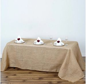 90x132 Natural Tone Chambury Casa Rustic Burlap Rectangle Table Cloth for Sale in Chicago, IL
