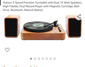 Vintage walnut turntable with dual 15W speakers CLEARANCE for Sale in Virginia Beach, VA