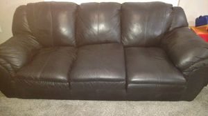 Black Leather sofa and loveseat originally 2400 / 500 you haul by 09/20 for Sale in Rockville, MD