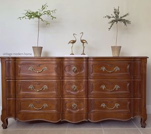 Vintage French Provincial Triple Dresser. Antique Farmhouse Chest of Drawers. FREE complementary local delivery for Sale in Homestead, FL