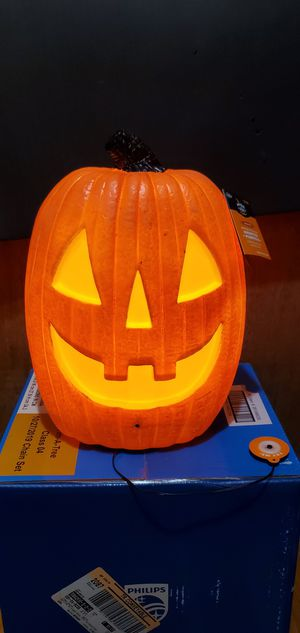 New Pumpkin Light Up With Spooky Sound see 4 pictures show shape for Sale in Oak Lawn, IL