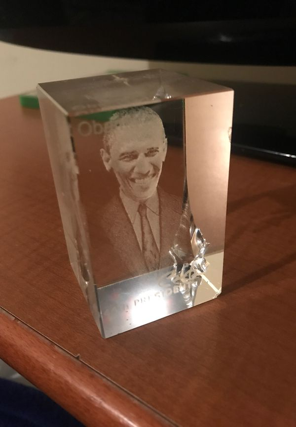 Glass with Obama's face on it