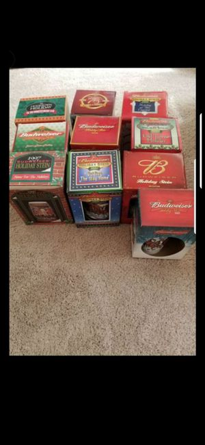 BUDWESIER HOLIDAY STEINS (ALL NEW) for Sale in Delray Beach, FL