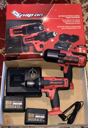 Snap-on 18V monster lithium cordless impact and drill kit for Sale in York, PA