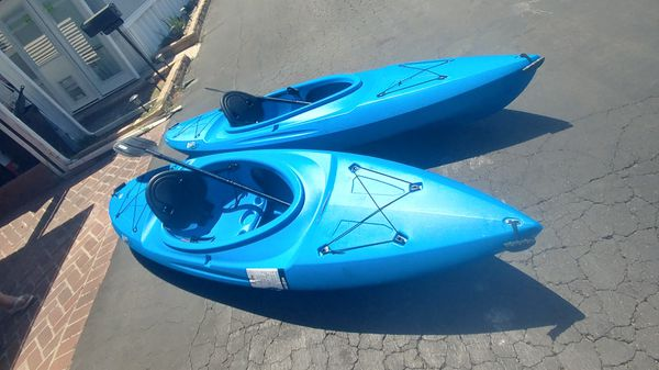 Lifetime kayaks. 9ft. $175 each. Negotiable. Include paddles. 3 availables