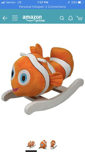 Finding Nemo kids rocking toy for Sale in Oceanside, NY