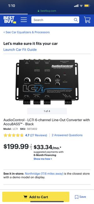 AUDIO CONTROL LC7I for Sale in Los Angeles, CA