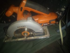 Ridgid battery saw 18 volt for Sale in Fort Smith, AR