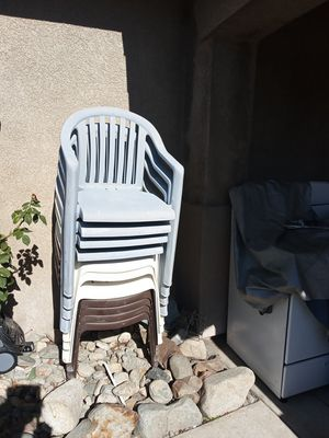Plastics Chairs 11 for $40 for Sale in Fontana, CA