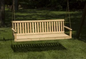 Brand New Outdoor 5ft porch swing for Sale in Dallas, TX