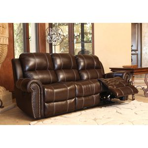 Real genuine Italian leather power recliner sofa loveseat and chair brown for Sale in Gaithersburg, MD