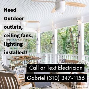 Chandelier / ceiling fan / recessed lights , porch lights installation for Sale in San Dimas, CA