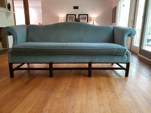Blue velevet vintage sofa for Sale in West McLean, VA