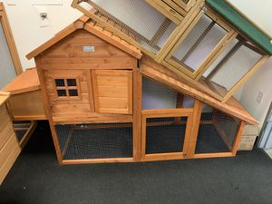 Lovupet Wooden Chicken Poultry Coop Hen house Rabbit Hutch Cage with Run 0315 for Sale in Bell Gardens, CA