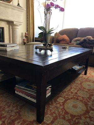 100% solid wood coffee table for Sale in West Los Angeles, CA