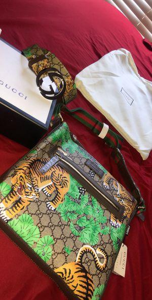 Designer messenger bag & belt for Sale in Horn Lake, MS