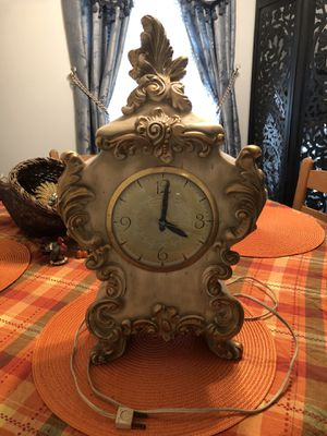 Antique used clock Ormulu Style by Lanshire for Sale in Statesville, NC