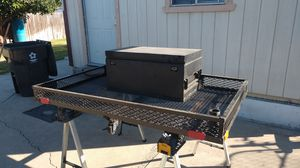 Hitch cargo basket with box for Sale in Stockton, CA
