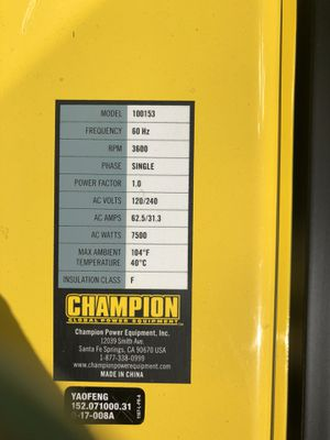 Champion generator for Sale in Portland, OR