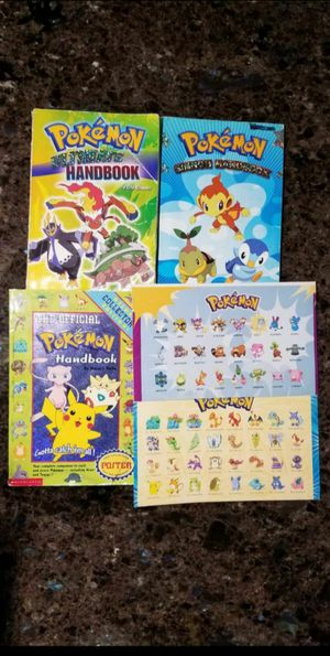 3 Pokemon Handbooks w/ 2 Posters for Sale in Federal Way, WA