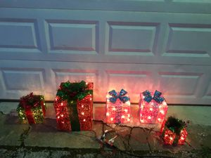 CHRISTMAS DECOR WITH LIGHTS $40 for Sale in Fort Worth, TX