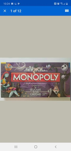 NEW Monopoly The Nightmare Before Christmas for Sale in San Antonio, TX