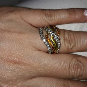 Set 2 Piece 925 Sterling Silver Engagement Wedding Ring, Size 7. for Sale in Dallas, TX