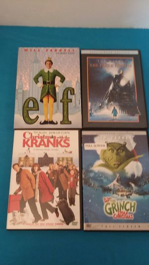 Pre-owned law of 4 DVD Christmas movies for Sale in Fort Myers, FL