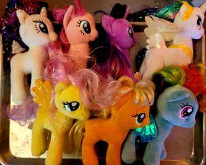 Lot of 7 My Little Pony plush dolls for Sale in Bonney Lake, WA