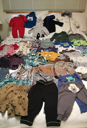 Great assortment of barely used 6 to 9 months boys clothing! for Sale in Puyallup, WA