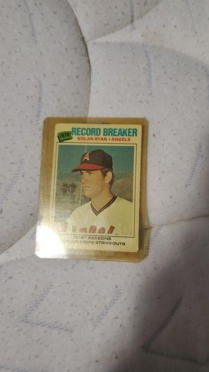 Nolan Ryan baseball card for Sale in Silverdale, WA