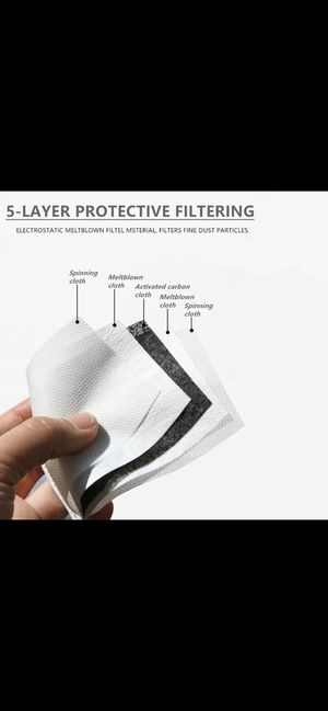 Carbon Filters for Homemade Mask. 10 pack for Sale in West Covina, CA