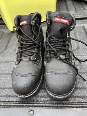 Craftsman men's Theo black waterproof steel- toe work boot Size 8w for Sale in Pittsburgh, PA