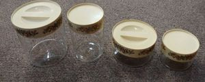 Rare Vintage Pyrex Ware 4 Piece Canister Set Spice Of Life for Sale in Burlington, NC
