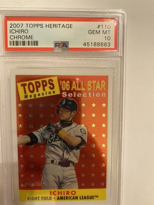 2007 Topps Heritage Ichiro Chrome psa 10 low pop numbered /1958 for Sale in Garden Grove, CA