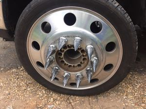 24in rims and tires with adapters for Sale in Fairfax, VA