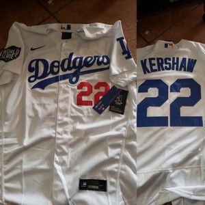 Dodgers kershaw jersey with World Series patch size medium to 3xl stitched firm price pick up only for Sale in Moreno Valley, CA