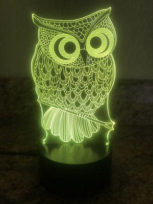 Beautiful owl 🦉 3D lamp ! for Sale in Las Vegas, NV