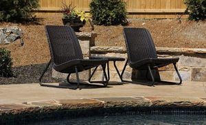 3 Piece Resin Wickler Furniture Set for Sale in Tampa, FL