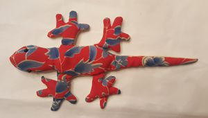 Red and Blue Pattern Lizard bean bag for Sale in Odenton, MD