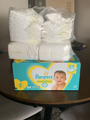 Pampers Swaddlers Size 1 & 2 for Sale in Irving, TX