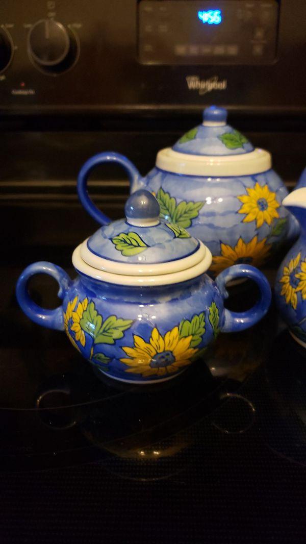 Blue Flowered Teaset