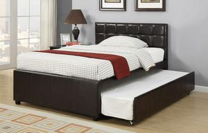 New Espresso Twin/Twin Trundle bed for Sale in Austin, TX