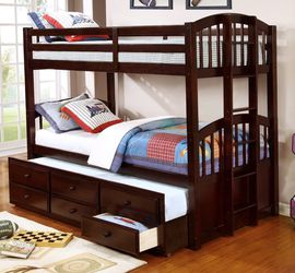 Bunk Bed With Trundle And Storage Drawers Brand New for Sale in Rosenberg,  TX