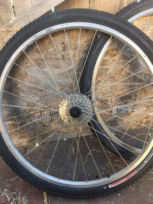Pair of 26 rims and tires for Sale in Oakland, CA