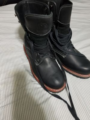 Black leather boots for Sale in Takoma Park, MD