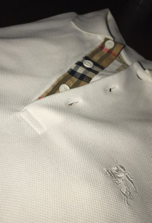 White Burberry collared shirt for Sale in Columbus, OH