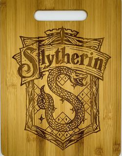 Harry potter Slytherin laser engraved bamboo high quality cuttingboard pop gift for Sale in Los Angeles,  CA