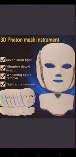 BRAND NEW Led face rejuvitating mask collagen production skin whitening for Sale in Tucson, AZ